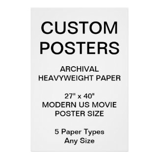 "Custom Personalized 27""x40"" Archival Paper Poster"