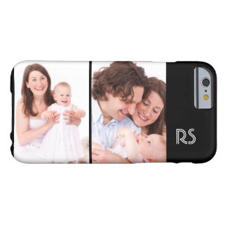 Custom Personalized 2 Photo And Monogram Template Barely There iPhone 6 Case