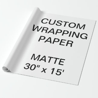 """Custom Personalized 30"""" x 15' Matte Wrapping Paper"""