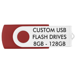 Custom Personalized 32GB USB Flash Drive - Red