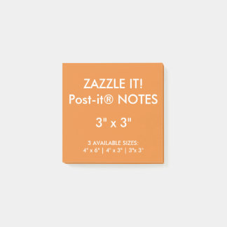 "Custom Personalized 3"" Square Post-it® Notes Blank"