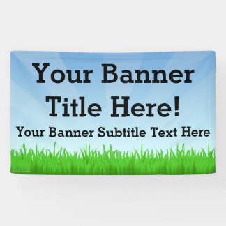 Custom Personalized 3x5 Summer Scene Banner