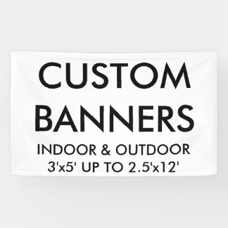 Custom Personalized 5'x3' Banner Blank Template
