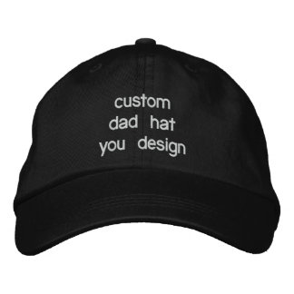 Custom Personalized Adjustable Dad Hats Embroidered Hat
