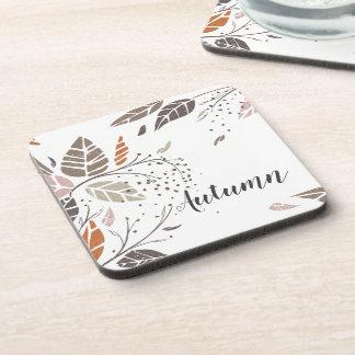Custom Personalized Autumn Leaves   Coaster