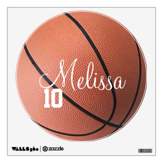 Custom Personalized Basketball Name and Number Wall Decal