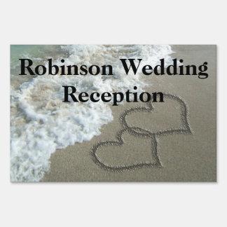 Custom Personalized Beach Wedding Reception Sign