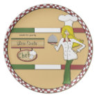 Custom Personalized Blonde Chef Plate