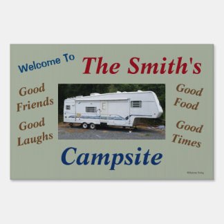 Custom Personalized Campsite Sign Your RV Image