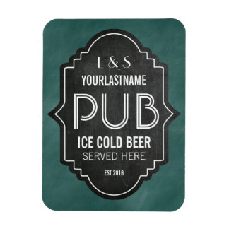 Custom Personalized Chalkboard Pub Sign Magnet