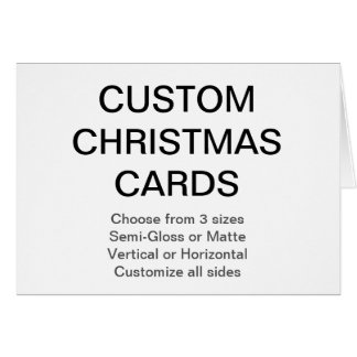 Custom Personalized Christmas Card Blank Template