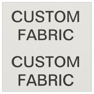 "Custom Personalized Combed Cotton Fabric 28"" x 18"""