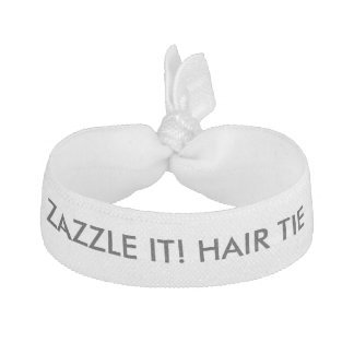 Custom Personalized Elastic Hair Tie Blank