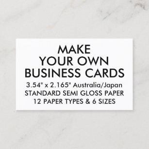 Blank design it yourself business cards business card printing custom personalized glossy japanese business cards reheart Image collections
