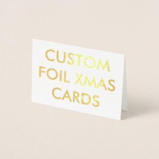 Custom Personalized Gold Foil Christmas Card