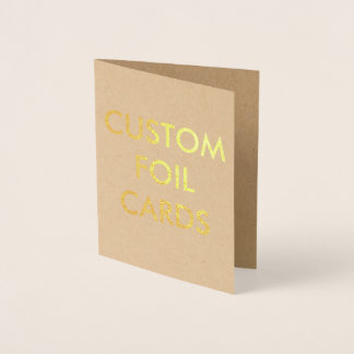 Custom Personalized Gold Foil Greeting Card