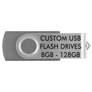 Custom Personalized Grey 8GB USB Flash Drive
