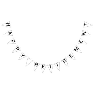Custom Personalized Happy Retirement Flag Bunting