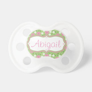 Custom Personalized Hearts and Calico Pacifier