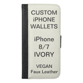 Custom Personalized IVORY iPhone 8/7 Wallet Blank