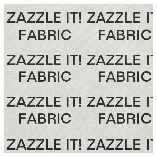 "Custom Personalized Ivory Linen Fabric 27"" x 18"""