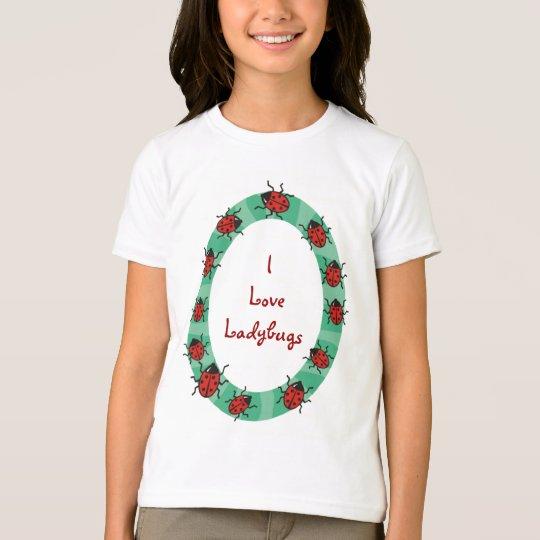 Custom Personalized Ladybug Border Tees