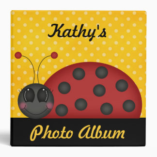 Custom Personalized Ladybug Photo Album Binder