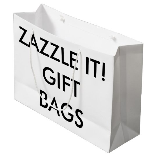 Custom Personalized Large Gift Bag Blank Template