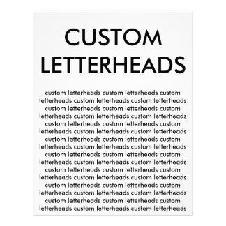 Custom Personalized Letterheads Blank Template Letterhead