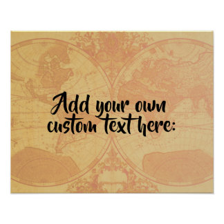 Custom personalized map 'Add your own text' Poster