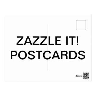 Custom Personalized Matte Postcard Blank Template
