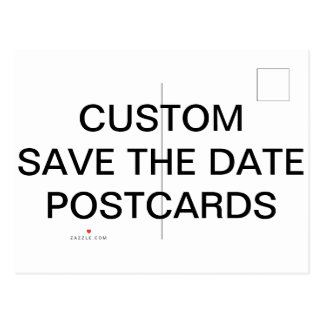 Custom Personalized Matte Save The Date Postcard