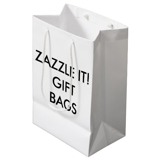 Custom Personalized Medium Gift Bag Blank Template
