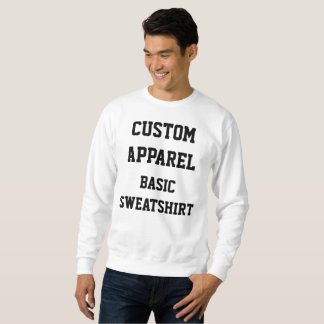 Custom Personalized Men's BASIC SWEATSHIRT