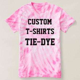 Custom Personalized Men's PINK TIE-DYE T-SHIRT