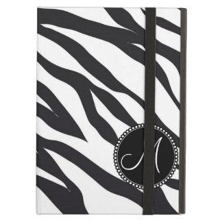 Custom Personalized Monogram Initial Zebra Stripes iPad Air Case