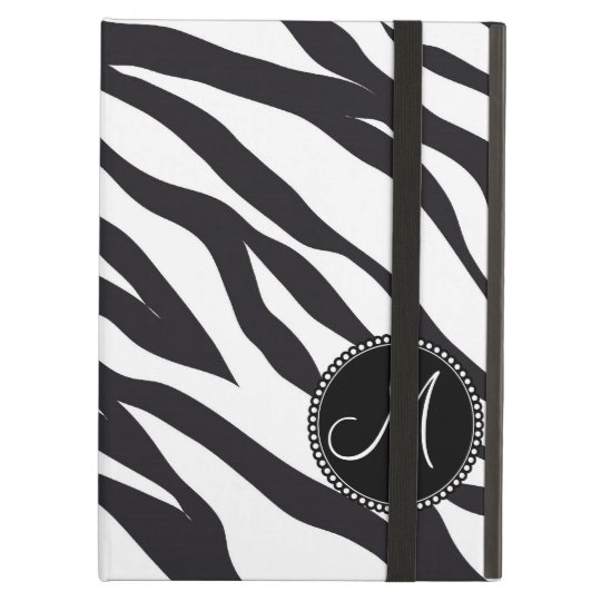 Custom Personalized Monogram Initial Zebra Stripes iPad Air Case