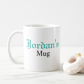 Custom Personalized Monogrammed Blue Coffee Mug