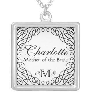 Custom Personalized Mother of the Bride Necklace