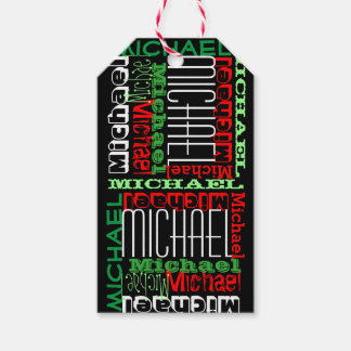 Custom Personalized Name Kids Christmas Gift Tags