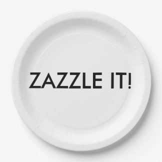 Custom Personalized Paper Plate Blank Template 9 Inch Paper Plate