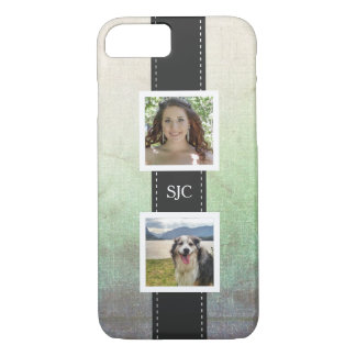 Custom Personalized Photo and Initials iPhone 7 Case