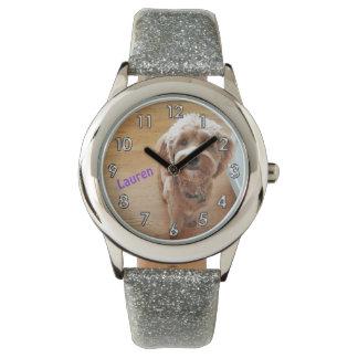 Custom Personalized Photo Glitter Watch for Girls