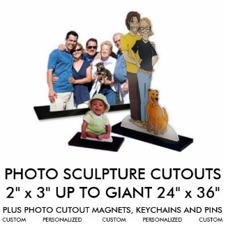 Custom Personalized Photo Sculpture Blank Template