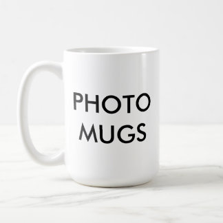 Custom Personalized Photo White Mug Blank