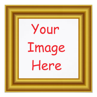 Custom Personalized Picture & Gold Frame Printed Card