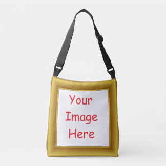 Custom Personalized Picture & Gold Frame Printed Crossbody Bag