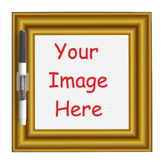 Custom Personalized Picture & Gold Frame Printed Dry Erase Board