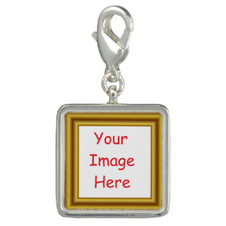 Custom Personalized Picture & Gold Frame Printed Photo Charms