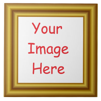 Custom Personalized Picture & Gold Frame Printed Tile